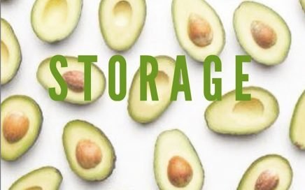Store avocados for weekly shopping
