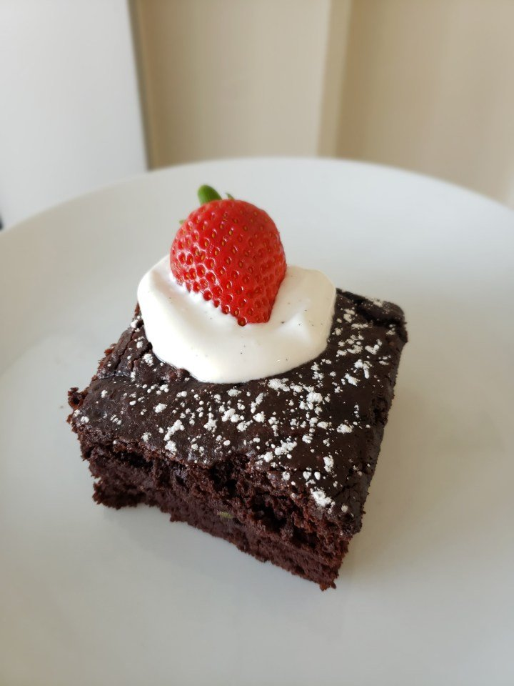 Avocado Chocolate Fudge Cake slice